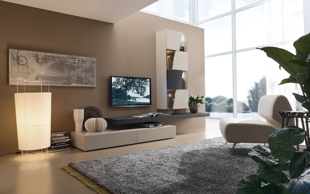 Fernsehm bel sideboards interna m bel for Pareti colorate immagini
