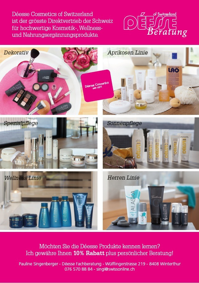 Flyer-1 Interna Möbel und Déesse Cosmetics of Switzerland Wohn-Blog
