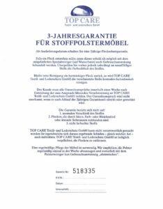 Stoff-3-Jahresgarantie-234x300 Top Care Fleckenschutz: Neuer Glanz für Sofa & Co Wohn-Blog